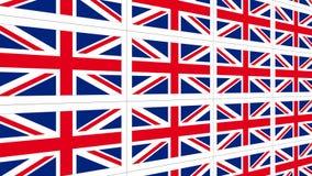 Postcards with United Kingdom national flag Stock Image