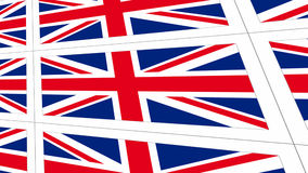 Postcards with United Kingdom national flag Stock Photography