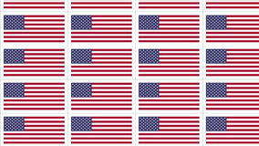 Postcards with United States national flag looped stock footage