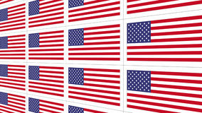 Postcards with United States national flag Royalty Free Stock Images