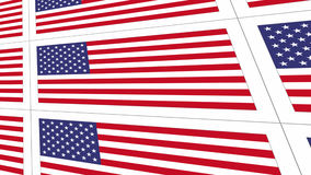 Postcards with United States national flag Stock Photos