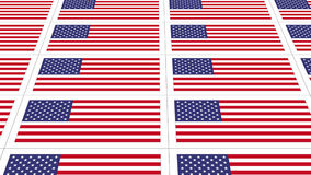 Postcards with United States national flag Royalty Free Stock Photos