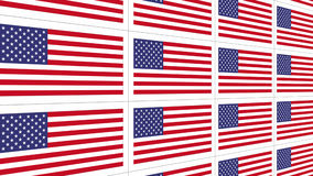 Postcards with United States national flag Stock Image