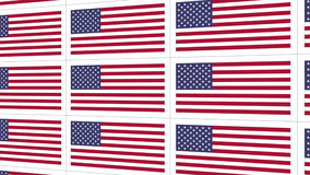Postcards with United States national flag stock video footage