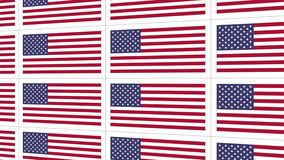 Postcards with United States national flag stock footage