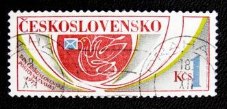 Postcirca met duif, 1975 Royalty-vrije Stock Afbeelding
