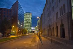 Postdamer普拉茨,柏林,德国 免版税库存照片