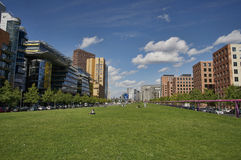 Postdamer Platz. Modern building in the middle of Berlin's financial district Royalty Free Stock Images