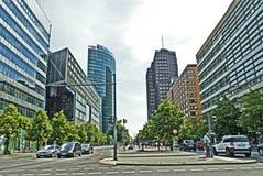 Postdamer Platz in Berlin. Street in Berlin at the Summer. Postdamer Platz Stock Image