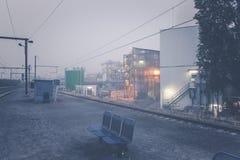 Postdokken van een Belgisch station stock foto