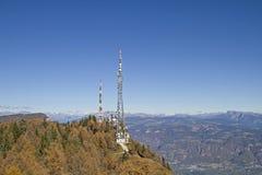 Poste émetteur Penegal au Tyrol du sud Photographie stock libre de droits