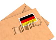 Poste alemán fotografía de archivo