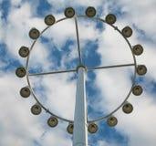 Poste circular de la lámpara Imagenes de archivo