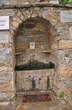 Poste d'eau potable au tombeau de Vierge Marie près d'Ephesus Image stock