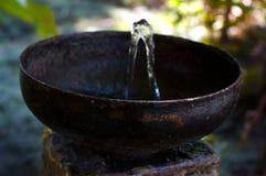 Poste d'eau potable en bronze de vintage dehors Images libres de droits