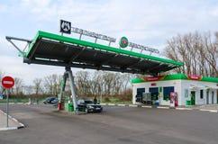 Poste d'essence Belorusneft, rue d'Olimpiiskaya, Gomel, Belarus Photos libres de droits