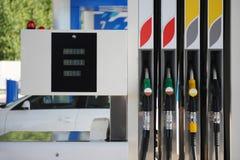 Poste d'essence de pompe à essence Photographie stock