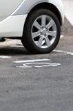 Poste d'essence pour les véhicules électriques Photographie stock libre de droits