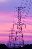 Poste de alto voltaje Foto de archivo libre de regalías