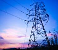 Poste de alto voltaje Imagen de archivo