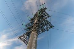Poste de alto voltaje Sochi imagenes de archivo