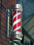 Poste de la barbería foto de archivo