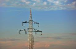 Poste de la electricidad imagen de archivo libre de regalías