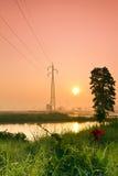 Poste de la electricidad Imagen de archivo