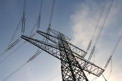 Poste de la electricidad Imágenes de archivo libres de regalías