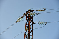 Poste de la electricidad Imagenes de archivo