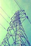 Poste de la electricidad como vendimia Foto de archivo libre de regalías