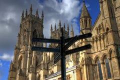 Poste de la iglesia de monasterio de York Foto de archivo