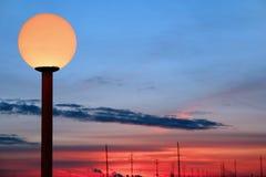Poste de la lámpara Imágenes de archivo libres de regalías
