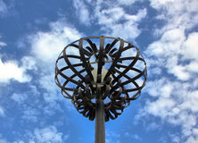Poste de la lámpara Imagenes de archivo