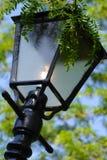 Poste de la lámpara en jardín Imágenes de archivo libres de regalías