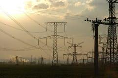 poste de la Potencia-transmisión Fotografía de archivo