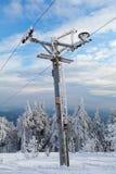 Poste de la remolque de esquí imagen de archivo libre de regalías