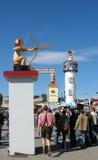 poste de la WC-muestra en el festival de Oktoberfest Imagen de archivo