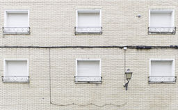 Poste de luz da casa Fotos de Stock