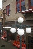 Poste de luz fora do bar #10 na cidade da febre do ouro da palha, SD Fotografia de Stock Royalty Free