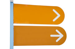 Poste de muestra con dos flechas Fotografía de archivo libre de regalías