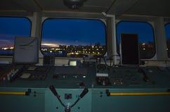 Poste de nuit sur le Danube Image stock