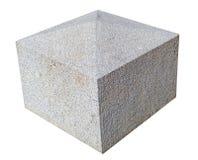Poste de piedra decorativo foto de archivo libre de regalías