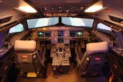 Poste de pilotage d'Airbus Image stock