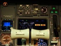 Poste de pilotage de Boeing 737 Photos libres de droits