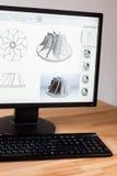 Poste de travail d'ingénieur de DAO Photos stock