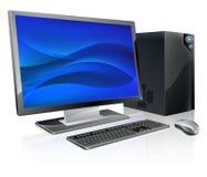 Poste de travail d'ordinateur de PC de bureau illustration de vecteur
