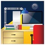 Poste de travail de bureau coloré Photo libre de droits