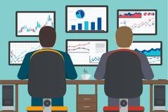 Poste de travail, information et site Web s d'analytics de Web de développement illustration stock