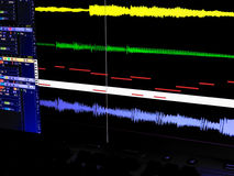 Poste de travail sonore de Digitals Photo stock